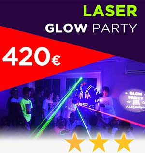 laser glow party